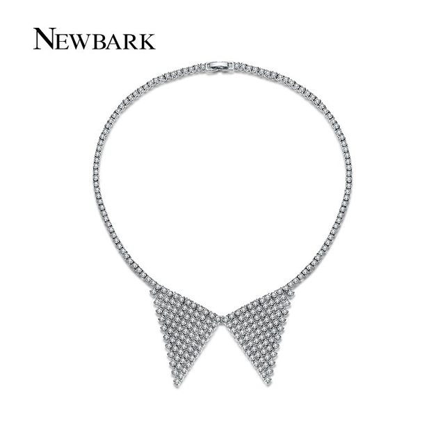 Vintage Collar Shaped Silver plated Choker Necklace