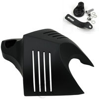 Black HORN COVER For Harley Softail Dyna Glide Big Twin Electra Road King 1992 2012