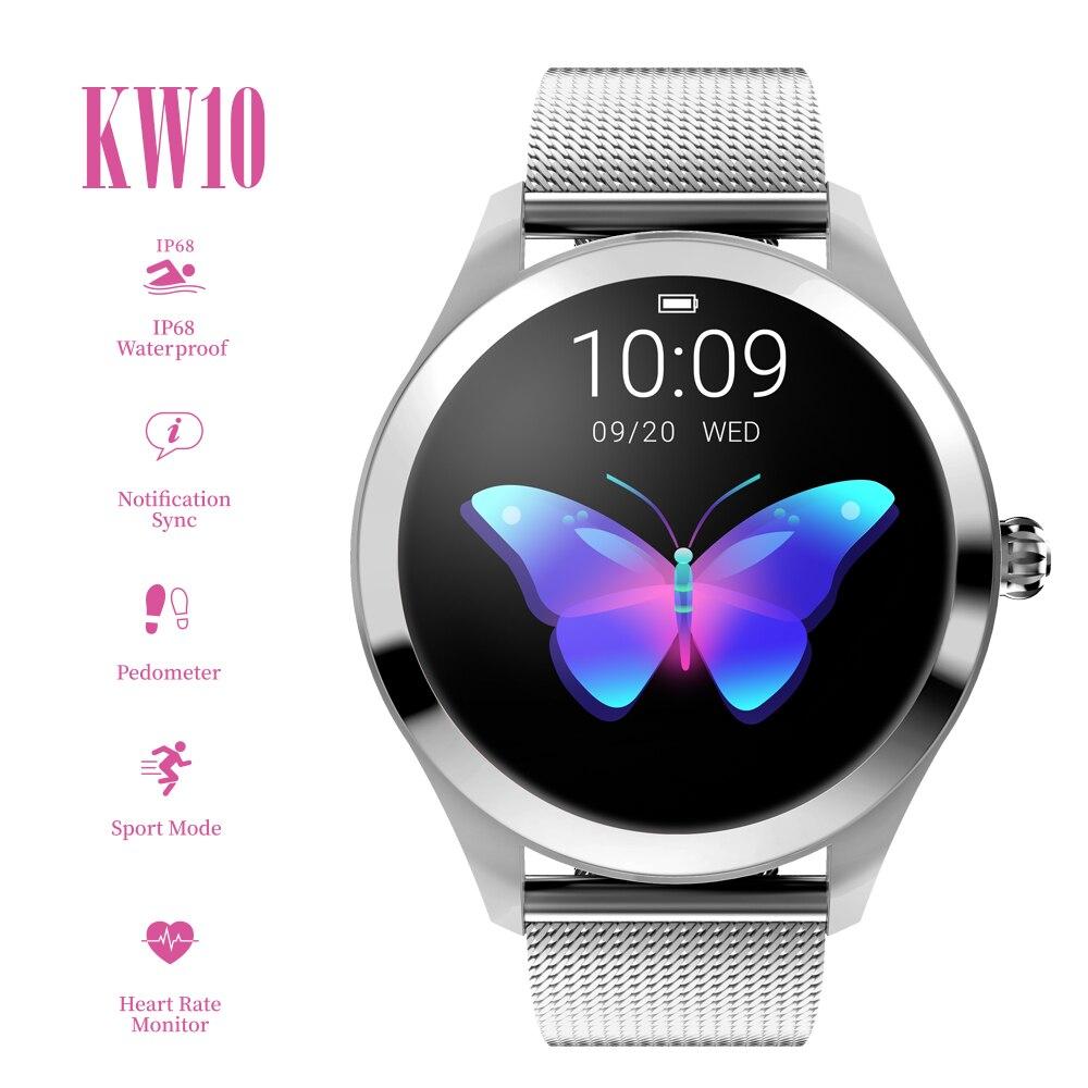 Smart Watch Waterproof IP68 Heart Rate Leather Strap Fitness Tracker Watch Women for Xiaomi Android IOS Smart Bracelet Women
