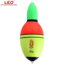 LEO 20g/30g/35g/40g Fishing Floats EVA Fish Float LED Light with Button Battery Weight Water Resistance High quality