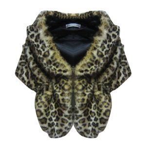 Image 2 - Abrigos de boda de piel sintética para mujer, chaqueta cálida de invierno, chal, ropa de abrigo, capa para dama, uso diario