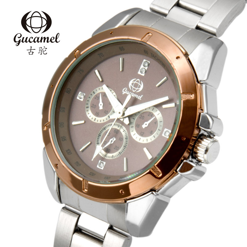 GUCAMEL Fashion Lover Watch Luxury Brand Couple Quartz Wristwatch Water Resistant Steel Leather Mens Womens Watches New Horloges