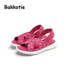 Bakkotie 2017 New Fashion Summer Baby Boy Children Breathable Casual Shoe Kid Brand Toddler Leisure Sandals Girl Elastic Slip On