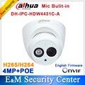 Dahua IPC-HDW4431C-A заменить IPC-HDW4421C-A 4MP Сети Ip-камера ИК POE ВИДЕОНАБЛЮДЕНИЯ Микрофон Встроенный H265 H264 купол DH-IPC-HDW4431C-A