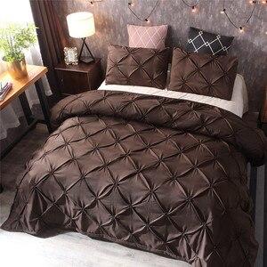 Image 3 - Yeni yatak nevresim ve yastık 3D baskılı mermer Headfull boyutu üç pasta (levha) yatak odası saten çarşaf