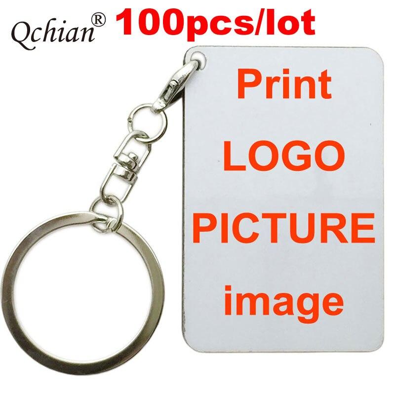 100 개/몫 사용자 정의 인쇄 키 체인 텍스트 그림 연인 아기 가족 사진 그림 회사 로고 인쇄 키 체인에-에서열쇠고리부터 쥬얼리 및 액세서리 의  그룹 1