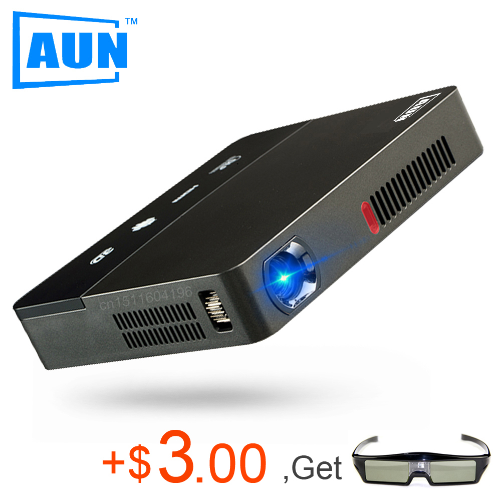 AUN Projector 1280*800 AKEY Y6 Android Projector Set-in 10,000mAH Battery, Bluetooth, WIFI, Support Airplay, Miracast LED TV