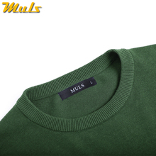 5XL mens pullover sweaters 2017 Autumn new solid cotton O neck sweater jumpers Winter male knitwear man Blue Gray Black Green