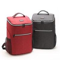 20L Backpack Cooler Bag Oxford Waterproof Ice Pack Picnic Refrigerator Bag For Food Drink