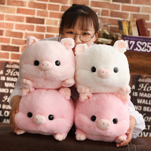 все цены на Simulation soft Pig Plush Toys For Children Kawaii Stuffed Animals dolls cute pillow Christmas birthday gift for friends girls онлайн