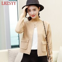 Springtime NEW Cashmere Wool Blended Sweater Women Short Paragraph Wool Cardigan Thin Jacket Slim Thin Knitting