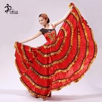 Flamenco Dance skirt Womens Designer Spanish Dancer Costume Sexy Flamenco Dancer Adult