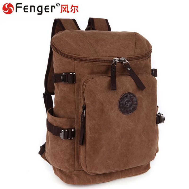 ФОТО Europe style Male canvas bag shoulders backpack Leisure schoolbags Travel Bags bolsas de lona mochila sac a main