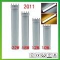 High quality 4pin 2g11 led  tube light 225mm 320mm 410mm 535mm 10w 12w 15w 22w led PL 2g11 tube SMD2835 AC85-265V