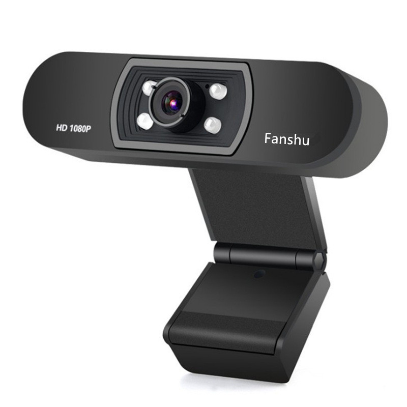 Fanshu USB 2.0 <font><b>Web</b></font> Digital Camera Full HD <font><b>1080P</b></font> Webcam with Microphone Clip-on 2.0 Megapixel CMOS <font><b>Web</b></font> <font><b>Cam</b></font> for Computer PC Laptop image
