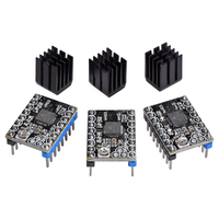 4/5PCS TMC2130 TMC2208 V1.0 Stepper Motor StepStick Driver Silent Excellent Stability With Heatsink suitably ramps 1.4 1.5 1.6
