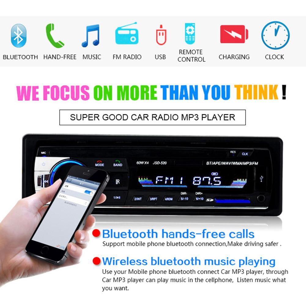 1PC Bluetooth fm transmitter <font><b>Car</b></font> MP3 Player <font><b>Audio</b></font> Stereo 4X60W <font><b>Car</b></font> Radio 12V In-dash <font><b>1</b></font> <font><b>Din</b></font> FM Aux Input Receiver Autoradio image