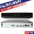 H.265/H.264 4Ch 5MP/4MP 8Ch CCTV NVR Suporte de Saída Max 4 K Para Onvif Câmera IP P2P Nuvem APP Móvel Vista XMEye Gravador De Rede