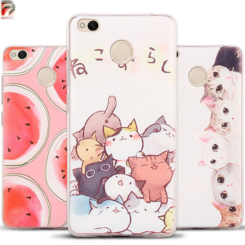 Silicone Cases For Xiaomi Redmi 4X Case Rubber Cat Landscape Soft TPU Case For Xiaomi Redmi Note 4X 4 X/Redmi 4 Pro Prime Cover