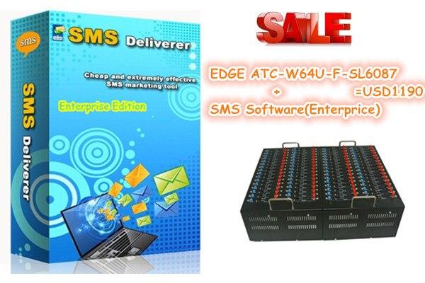 Enterprise edition sms software for wavecom SL6087 EDGE 64ports modem pool