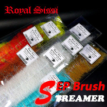 "8 colors/set EP streamer Brush 2"" wide EP Anadromus brushes salmon& steelhead flies fly tying material even for saltwater flies"
