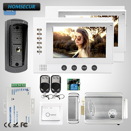 HOMSECUR 7 Wired Hands-free Video&Audio Home Intercom+Dual-way Intercom