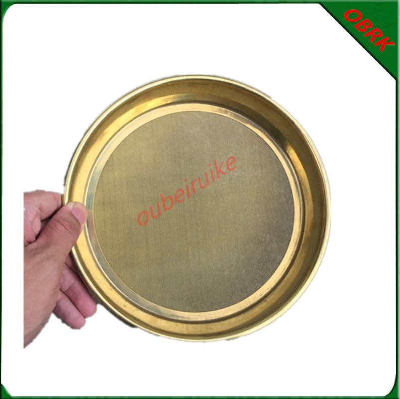 Diameter 200mm Copper Frame Brass Wire Test Sieve Standard Pharmacopoeia Experimental Bronze Sieve