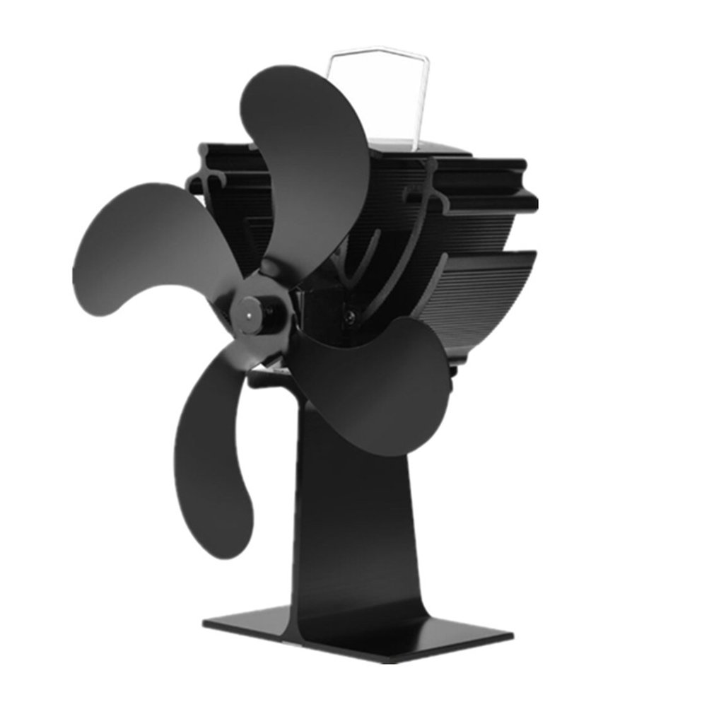 Fireplace Stove Fan 4 Blades Thermal Power Heat Powered Wood Stove Fan for Wood/Log BurnerFireplace Stove Fan 4 Blades Thermal Power Heat Powered Wood Stove Fan for Wood/Log Burner