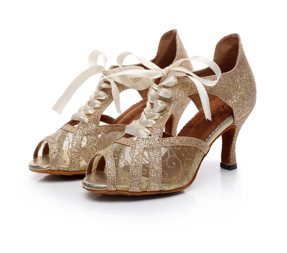 Woman Ballroom Latin Dance Shoes Salsa Tango Modern Bachata Dance shoes  Social Party Shoes Heel 6 fdb6a08d72ba