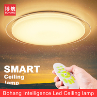 LED RGB Ceiling Light Lamp 24W Smart Remote Control Living Room Dimmable Bedroom Acrylic Study Concise