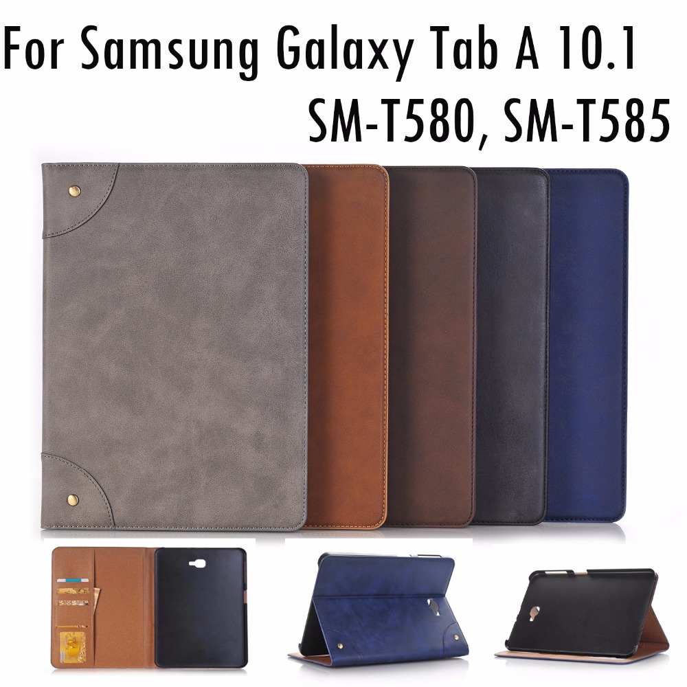 New High quality PU leather Case Cover for Samsung Galaxy Tab A 10.1 SM-T580 SM-T585 tablet Protective skin wallet card slots аксессуар чехол samsung galaxy tab a 7 sm t285 sm t280 it baggage мультистенд black itssgta74 1