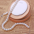 Big Size White Pearl Necklace, Natural Freshwater Pearl Necklaces,10mm AAA Freshadama Sharp Pearl Neckless Women men Jewelry