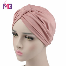 New Fashion Women Stretchy Modal Cotton Turban Dome Cap Headwear for Chemo Twist Hijab Head Scarves Ladies Bonnet Turbante