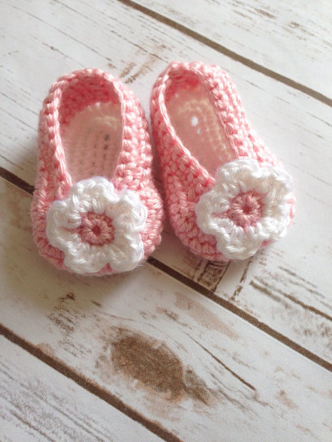 Handgemaakte Haak Baby Roze Schoenen Meisjes 0 1 Jaar Oude Peuter