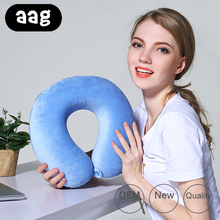 AAG Foam U Shaped Travel Pillow Neck Car Head Rest Airplane Cushion for Office Nap Plane