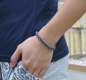 Image 5 - Nieuwe Mode Retro Mannen Shitai Zilveren Armband Koreaanse Mannelijke Modellen 100% 925 Sterling Zilveren Armband Grof 7 Mm20cm Thai Zilver