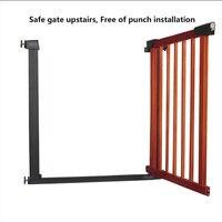 ¡Hk gratis! Valla de puerta de madera maciza para niños Puerta de barrera para bebés puerta de protección de escalera pet 75-82 cm 3 colores envío rápido puerta de madera