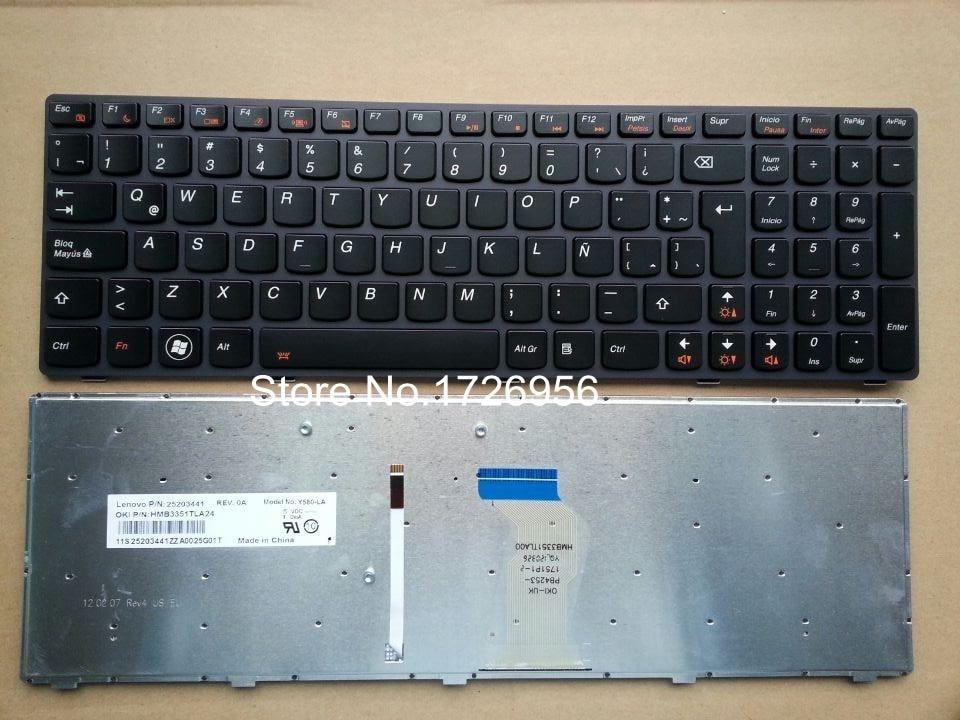 Новая клавиатура для Lenovo Ideapad Y580 клавиатура с подсветкой LA 25203435