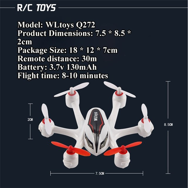 Mini RC Drone WL Q272 Hexacopter with LED Lights Better Flight than CX-10 Nano RC Quadcopter Latest RC toys helicopter