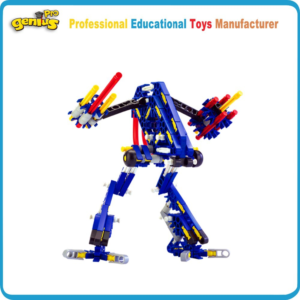 Genius 16DIY Building Blocks Robots Creative Kids Toys Christmas Gifts Children Compatible KNEX G-8008B - Brain Games store