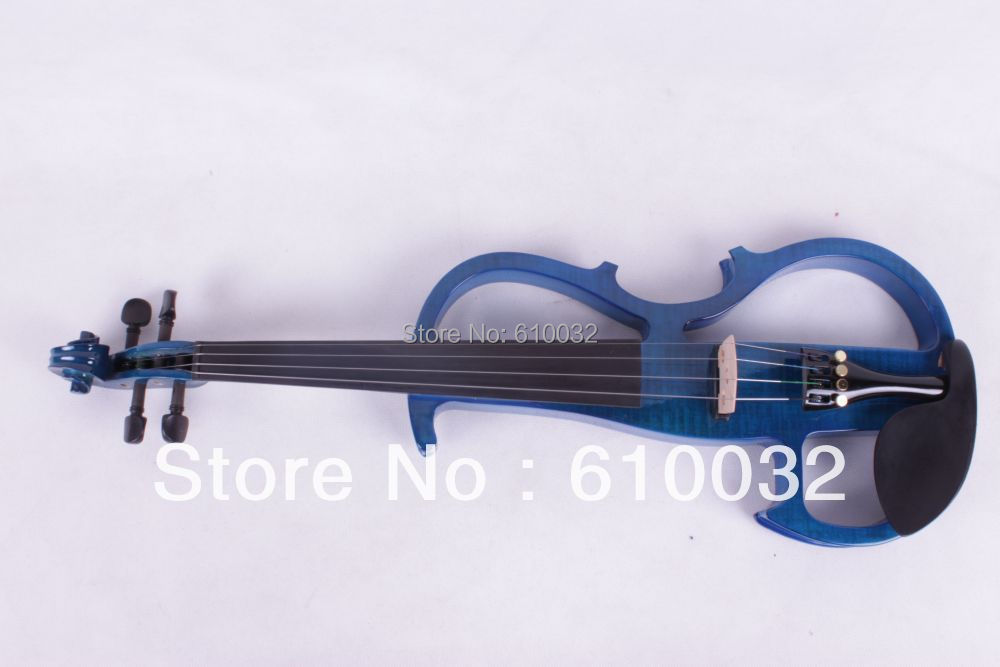 4/4 Electric Violin Solid wood 8 --8# silvery  blue  color  4 string4/4 Electric Violin Solid wood 8 --8# silvery  blue  color  4 string