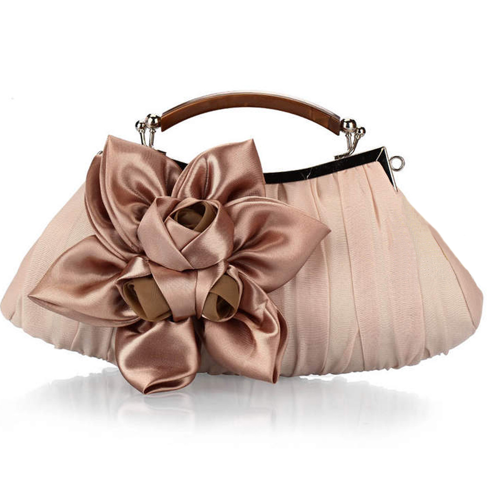 6e036502787a71 2019 Women s Flower Prom Party Evening Handbag Clutch Bag Wedding Satin  Package AB W Women bag-in Top-Handle Bags from Luggage   Bags on  Aliexpress.com ...