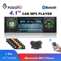 Podofo Radio Car Autoradio 1 Din Bluetooth SD MP3 Player Multimedia USB Radios FM Audio Stereo Automotivo Steering Wheel Control