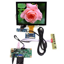 VGA LCD Controller Board 8inch LCD Screen VS080TC A1 800x600 Resolution EJ080NA 05A Capacitive Touch Panel RT2270C A