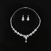 HIBRIDE Charm Party Gifts Chokers Necklaces /Drop Earrings /AAA Cubic Zirconia Gold Color Women Bridal Jewelry Sets N 162