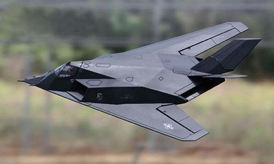 Échelle SkyFlight LX Jet 70 MM EDF RC F117 Nighthawk RTF Modèle Avion De Voltige