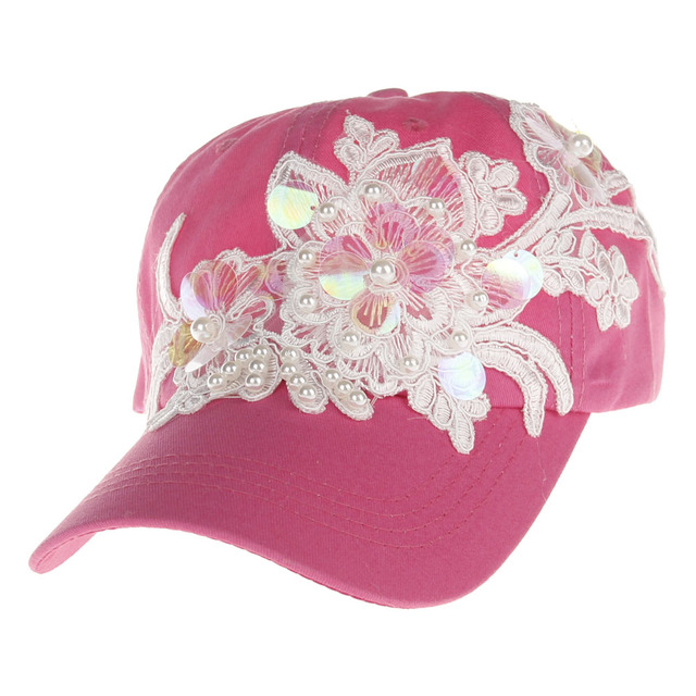 41f88b4a100 New Style Summer Women Sun Hats Adjustable Baseball Cap Flower Embroidery  Hats for Ladys  Girls