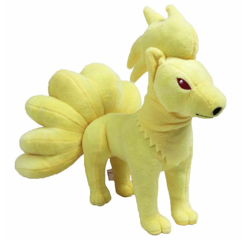 2017 Free Shipping NEW Standing Posture Ninetales Plush Toys Cartoon Stuffed Dolls Brinquedo Kids Gift 10 25CM