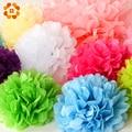 """30 pcs 4 """"6"""" 8 """"(10 cm 15 cm 20 cm) decorativo Mix Cor Da Flor Bolas Pompom Papel Tissue Pom Poms para festa de Casamento Decoração de casa"""