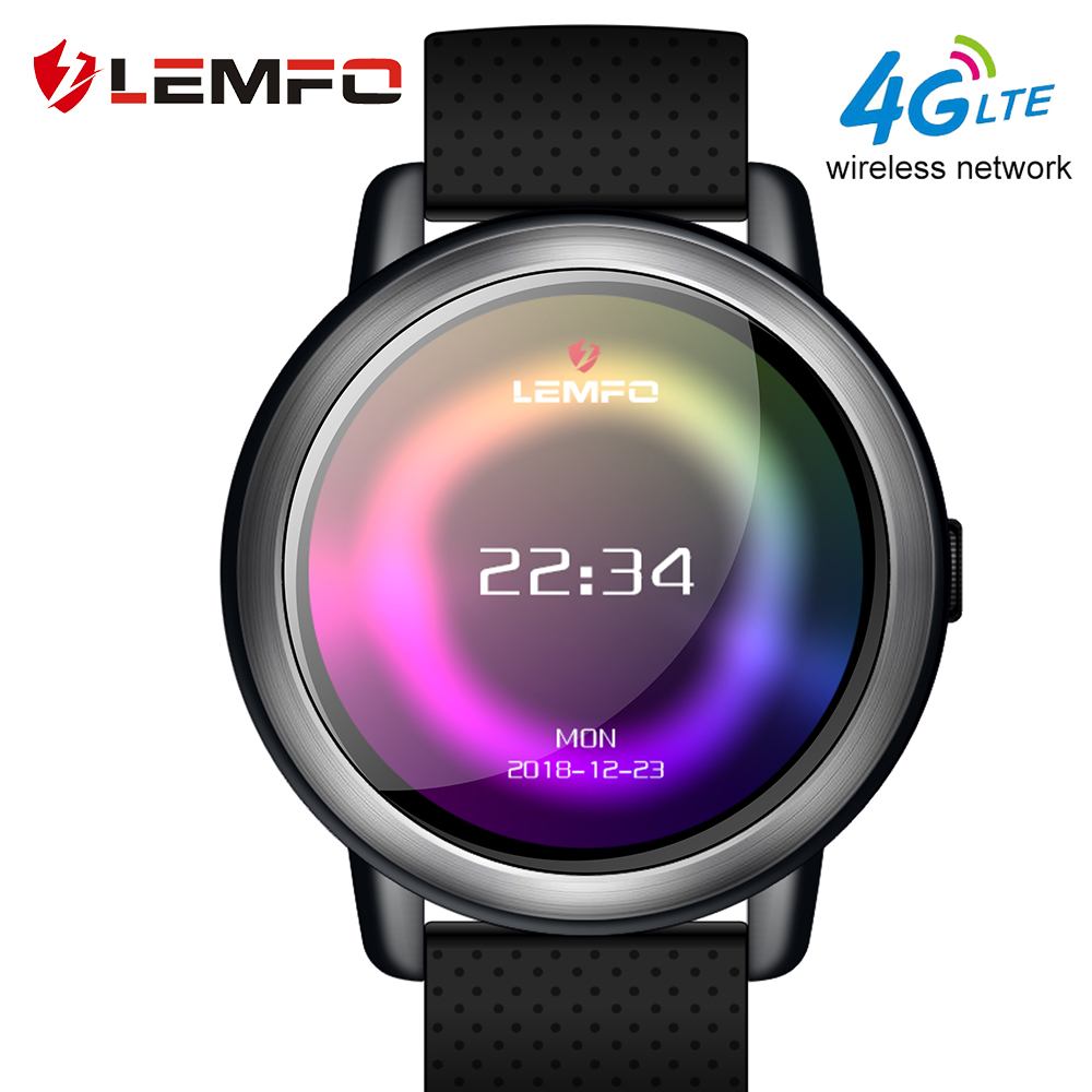 LEMFO LEM8 Smart Horloge Android 7.1 LTE 4g Sim WIFI 1.39 inch 2MP Camera GPS Hartslag IP67 Waterdicht smartwatch voor Mannen Vrouwen